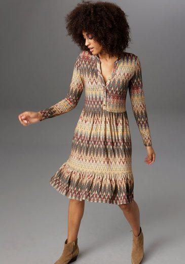 Aniston CASUAL Jerseykleid im Folklore-Style