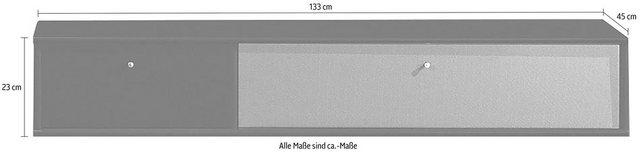 TV Möbel - hammel Media Board »MISTRAL«, Korpus mit glatter Oberfläche, Klapptür mit Akustikstoff, Danish Design  - Onlineshop OTTO