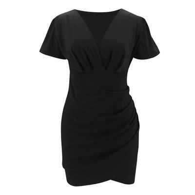 LAPA Partykleid »LAPA Kleid mit V-Ausschnitt, Kurzarmkleid«