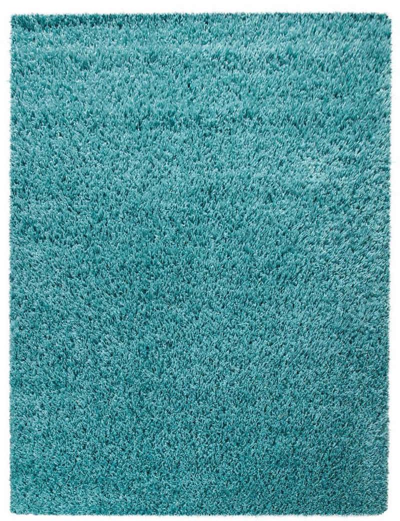 Hochflor-Teppich »Tripova«, my home, rechteckig, Höhe 45 mm, Uni Shaggy, weicher Flor, Wohnzimmer
