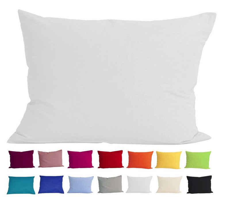 Kissenbezug »Basic«, beties, Kissenhülle ca. 40x60 cm 100% Baumwolle in vielen kräftigen Uni-Farben (wei)