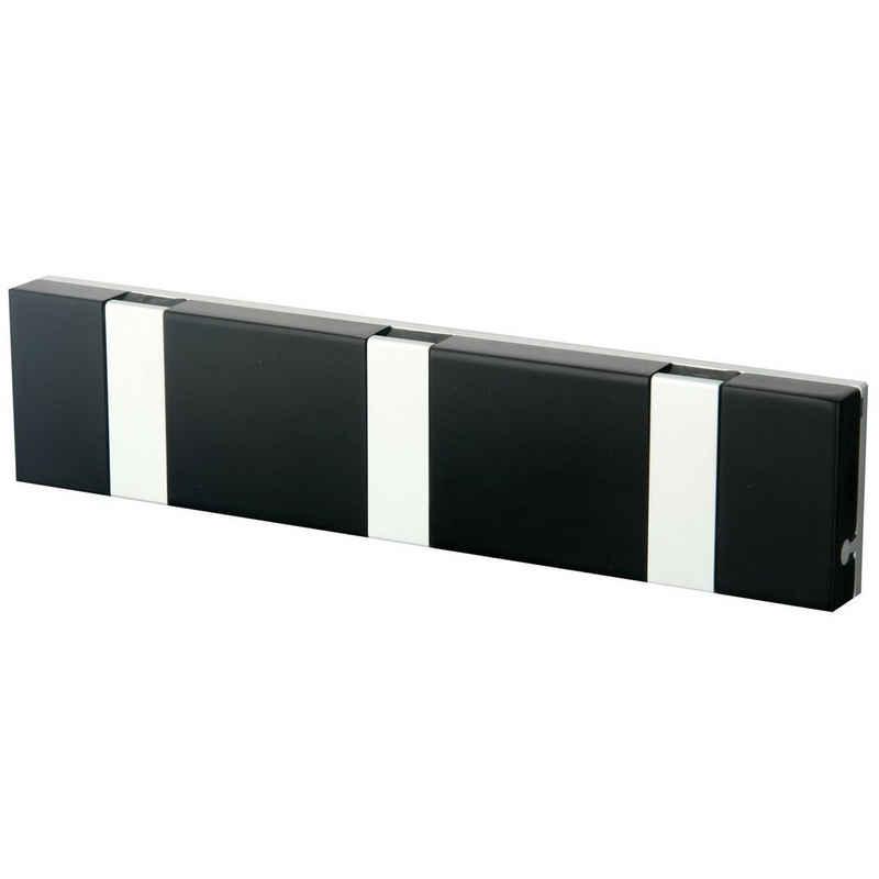 LoCa Garderobe »Knax Lite 3 schwarz Hakenleiste für Bad & Küche Länge 20 cm«
