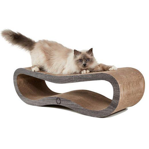 Canadian Cat Company Kratzpappe »Orbit 2.0 - dunkelgrau«, (Qualitäts-Kratzbrett, XL Kratzmöbel mit Katzenminze), ergonomische Form