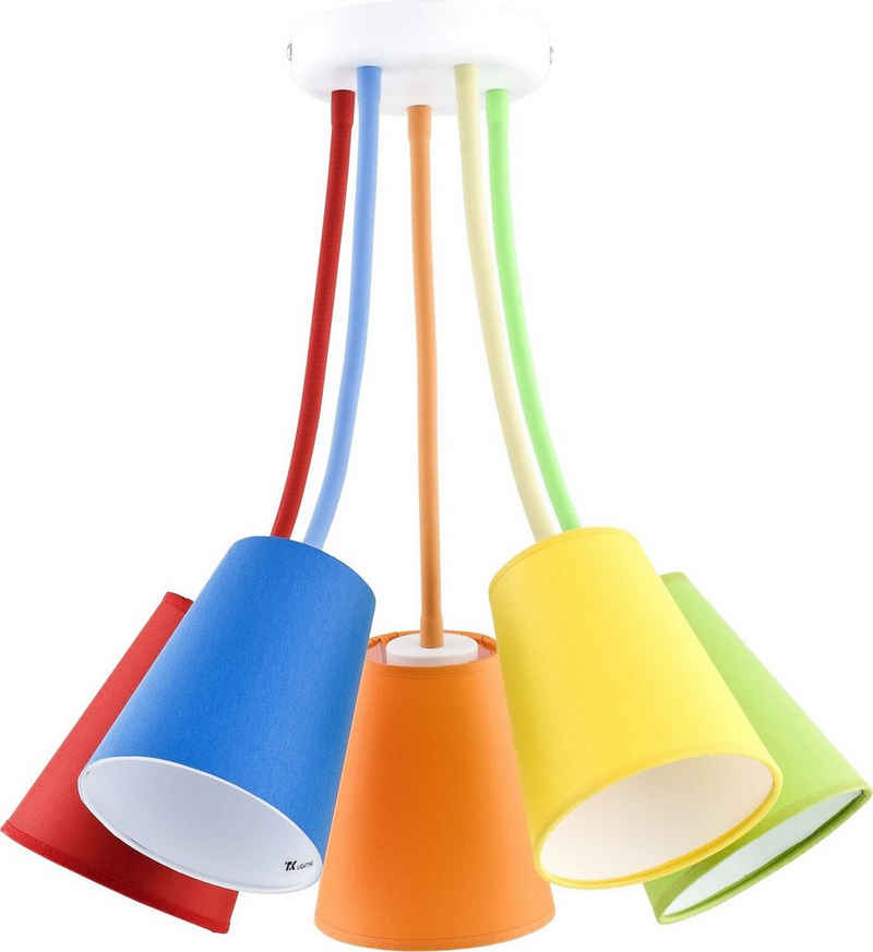 Licht-Erlebnisse Deckenleuchte »BANTA«, Deckenleuchte Bunt flexible Arme stylisch Kinderzimmer Lampe