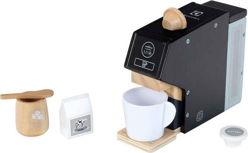 Klein Kinder-Kaffeemaschine »Electrolux, Holz«, mit Kaffeekapseln und Zubehör aus Holz