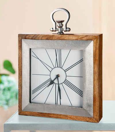 GILDE Standuhr »Uhr Empire« (1-St), Höhe 36 cm, eckig, Wohnzimmer