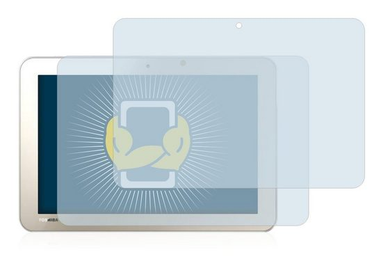 BROTECT Schutzfolie »für Toshiba Encore 2 Write L9W-Bestellung«, (2 Stück), Folie Schutzfolie klar