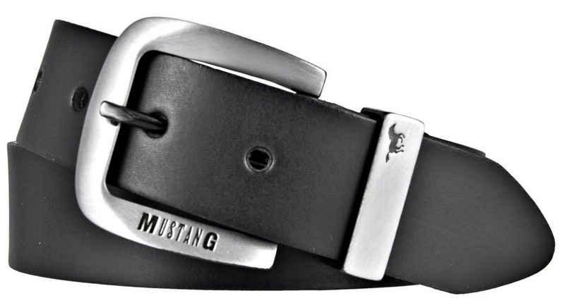 MUSTANG Ledergürtel »Mustang Ledergürtel Herrengürtel schwarz kürzbar,«