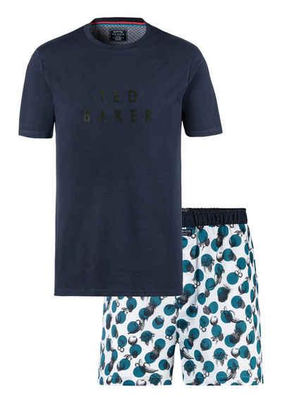 Ted Baker Shorty bedruckte Web-Shorts