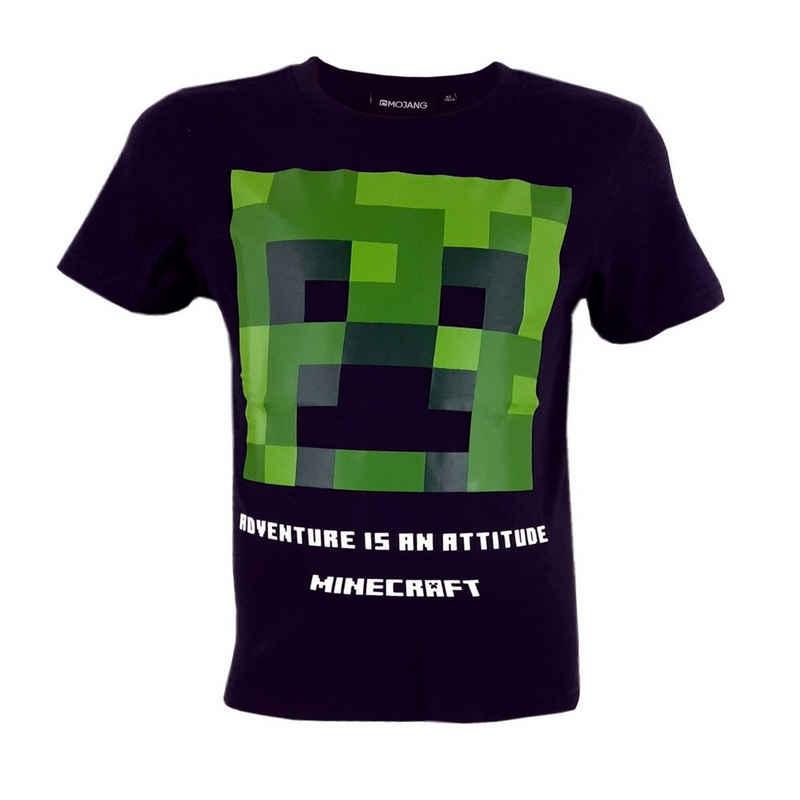 Minecraft T-Shirt »Creeper Black« aus 100% Baumwolle, Kinder Shirt in Gr. 128