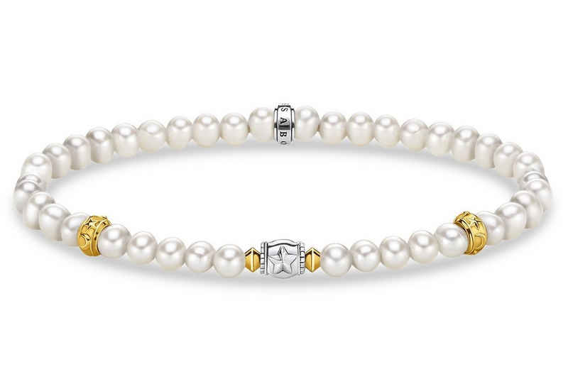 THOMAS SABO Silberarmband »Perlen mit Halbmond«