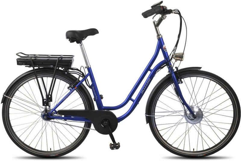 ALLEGRO E-Bike »Boulevard Plus 03 Blue«, 7 Gang Shimano Nexus Schaltwerk, Nabenschaltung, Frontmotor 250 W