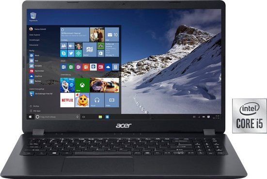 Acer A315-56-56DA Notebook (39,62 cm/15,6 Zoll, Intel Core i5, UHD Graphics, 512 GB SSD, Kostenloses Upgrade auf Windows 11, sobald verfügbar)