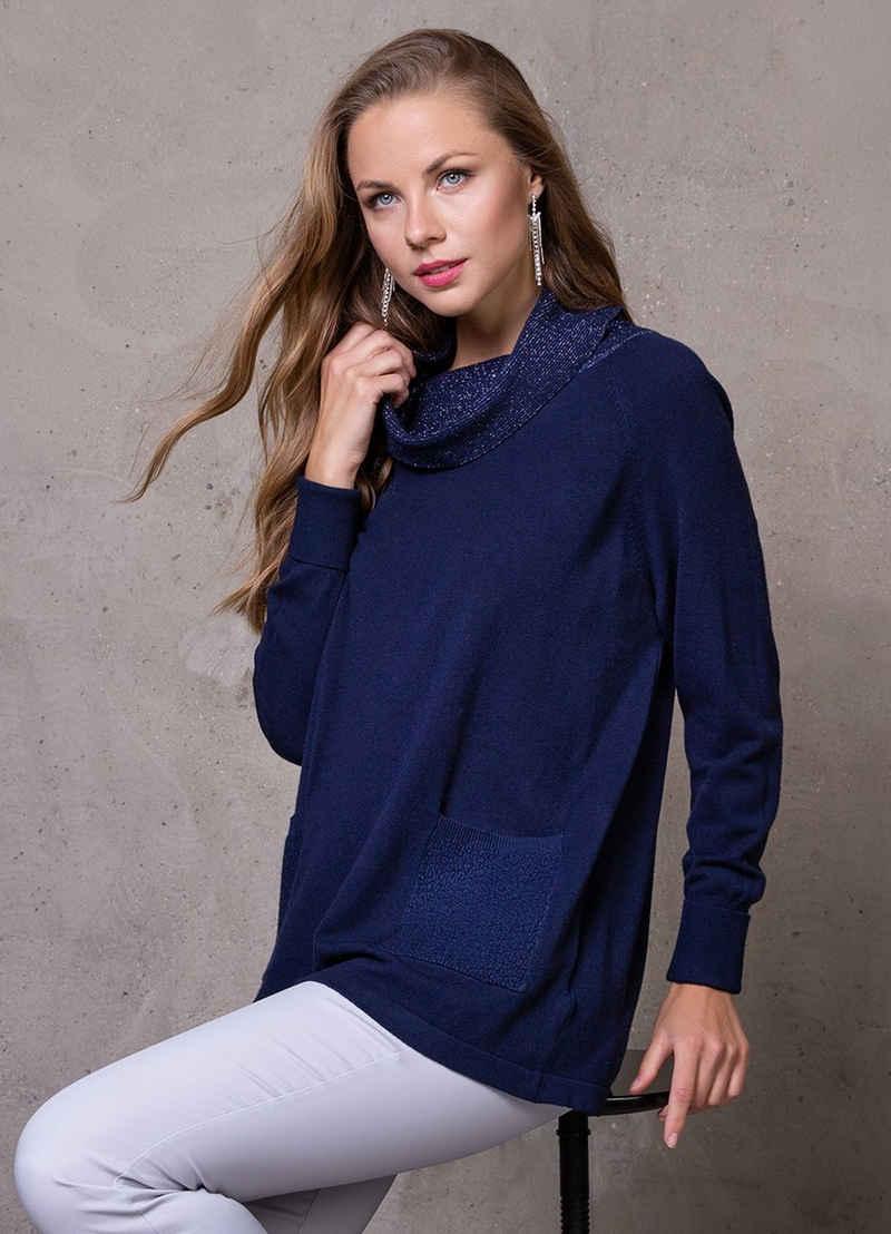 Passioni Rollkragenpullover »Pullover mit schimmerndem Rollkragen«