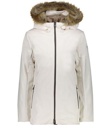 CAMPAGNOLO Anorak »Campagnolo Mid Fix Hood Softshell-Jacke stilvolle Damen Winter-Jacke mit ClimaProtect Ski-Jacke Weiß«