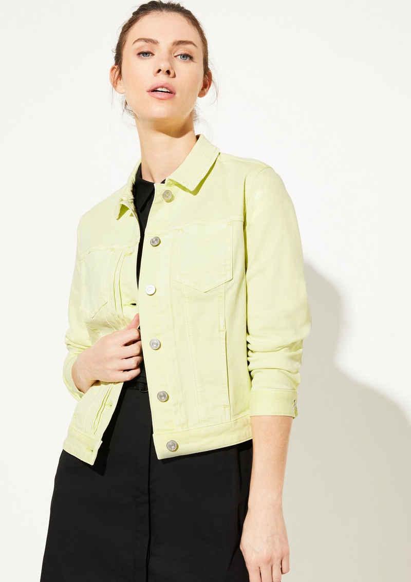 comma casual identity Jeansjacke »Coloured Denim-Jacke mit Waschung« Waschung