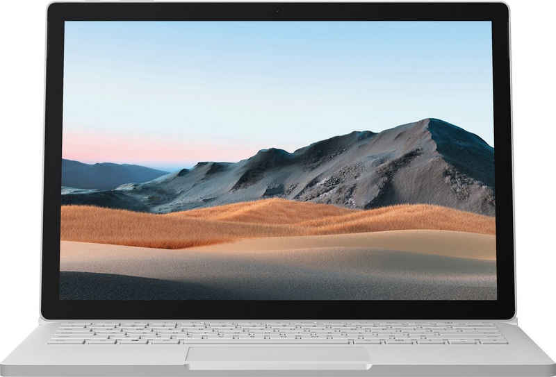 Microsoft Surface Book 3 i7, 256/16GB Platin Notebook (34,29 cm/13,5 Zoll, Intel Core i7 1065G7, GeForce GTX 1650, 256 GB SSD)