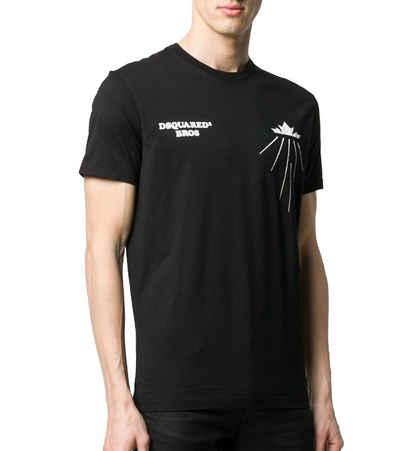 Dsquared2 T-Shirt »DSQUARED2 Bros Basic T-Shirt zeitloses Rundhals-Shirt für Herren Sommer-Shirt Schwarz«
