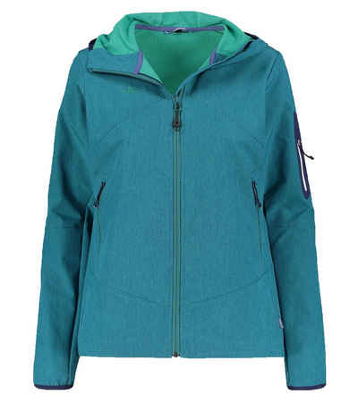 Kaikkialla Softshelljacke »KAIKIALLA Valpuri Jacke elegante Damen Sport-Jacke Softshell-Jacke Wander-Jacke Türkis«