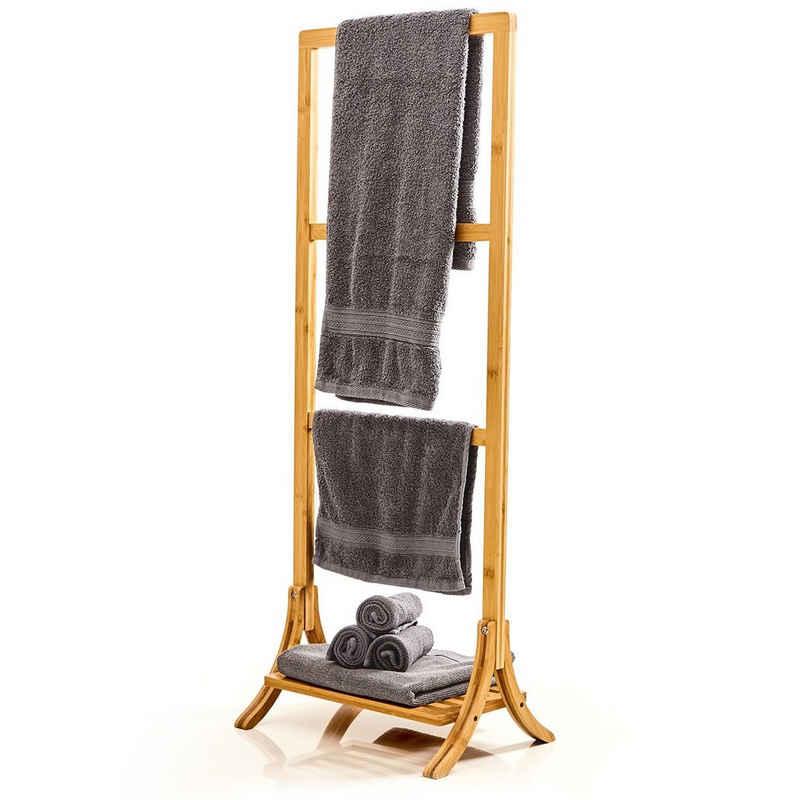blumfeldt Handtuchhalter »Handtuchhalter 3-fache Handtuchstange 40 x 104,5 x 27 cm Leiteroptik Bambus«