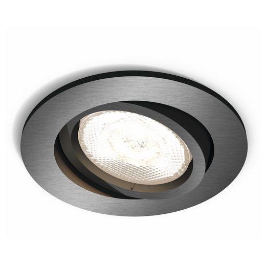 Philips LED Einbauleuchte »myLiving LED Einbaustrahler, warmGlow, rund, grau«, Einbaustrahler, Einbauleuchte