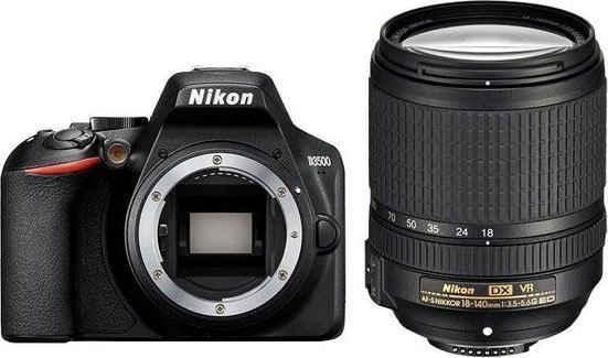 Nikon »D3500 KIT AF-S DX 18-140 mm 1:3.5-5.6G ED VR« Spiegelreflexkamera (AF-S DX NIKKOR 18-140mm 1:3,5-5,6G ED VR, 24,2 MP, Bluetooth)