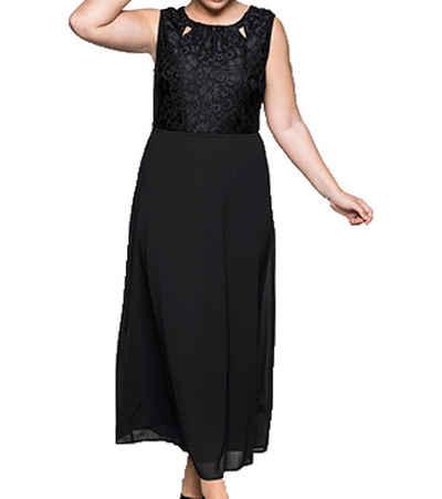 Sheego Abendkleid »sheego Abend-Kleid elegantes Damen Maxi-Kleid mit Spitzen-Oberteil Große Größen Party-Kleid Schwarz«