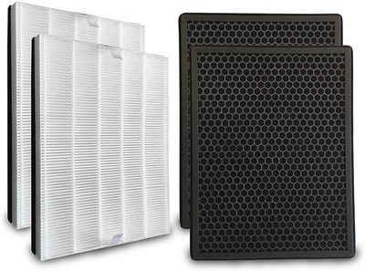 Comedes Filter-Set 2er Set passend für Philips Luftreiniger AC2889, AC2887, AC2882 und AC3829/10, einsetzbar statt Philips FY2422/30 und FY2420/30, Zubehör für Passend für Philips Luftreiniger AC2889, AC2887, AC2882 und AC3829/10