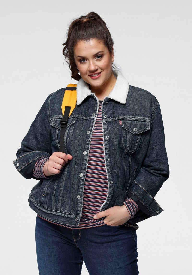 Levi's® Plus Jeansjacke »Ex Boyfriend Sherpa Trucker« mit Teddyfutter