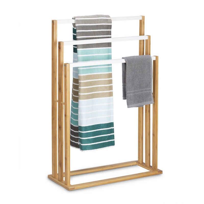relaxdays Handtuchhalter »Bambus Handtuchhalter 3-fach«