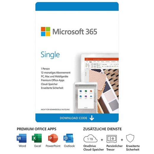 Microsoft Office 365 Single (Officeprogramm, Lizenzschlüssel)