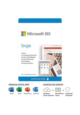 Microsoft Office 365 Single (Officeprogramm Lize...