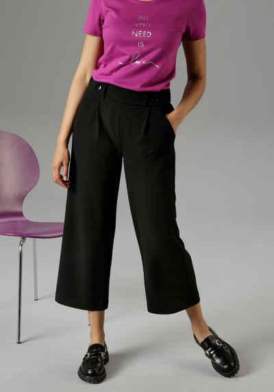 Aniston SELECTED Culotte mit modischer Zierborte - NEUE KOLLEKTION