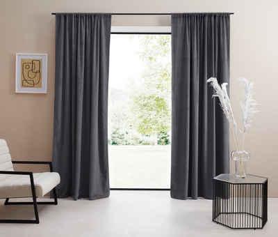 Vorhang »Samt Ladina«, LeGer Home by Lena Gercke, Stangendurchzug (1 Stück)