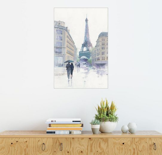 Posterlounge Wandbild, Im Regen spazieren