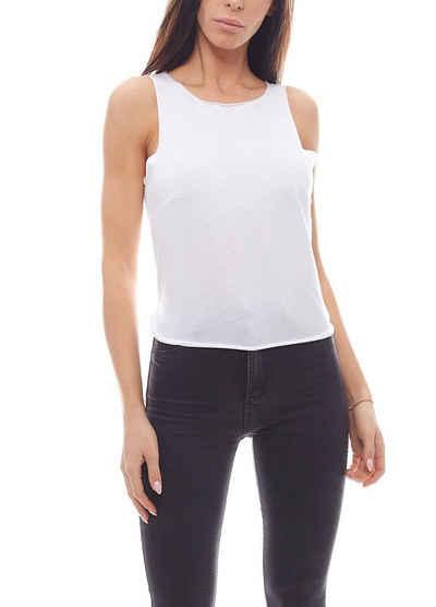 NA-KD Shirttop »NA-KD x Vanessa Moe Knoten-Top rückenfreies Damen Freizeit-Top Shirt Weiß«