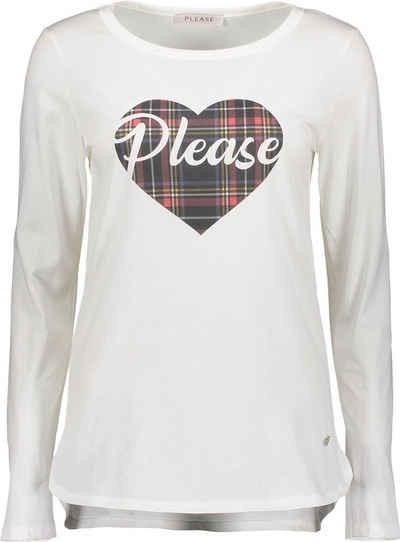 Please Jeans Langarmshirt »T6400« mit Please-Statement Print