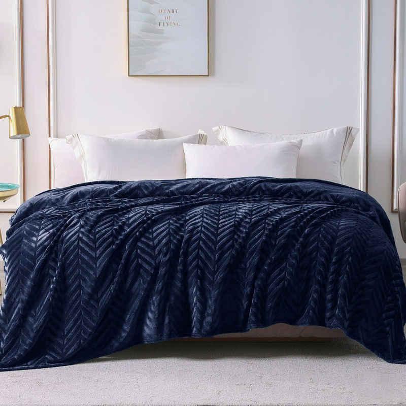 Wohndecke »decke«, Yebeda, Premium Wohndecke, Mikrofaser Fleece-Decke, 220 x 240 cm, TV- Decken, Sofadecke, Flauschige, Gemütlich, Langlebig