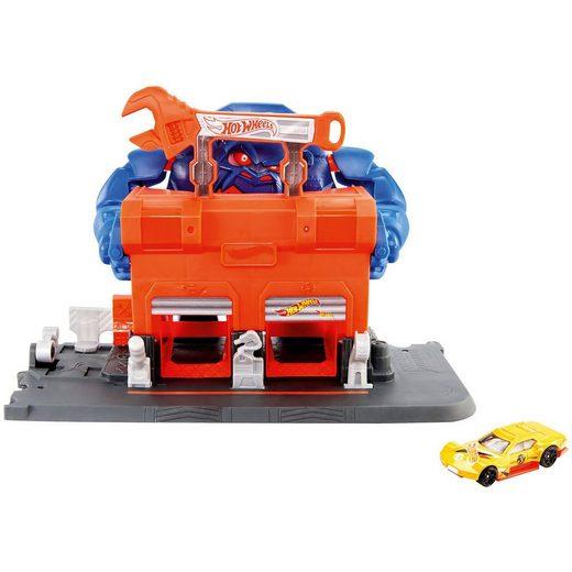 Mattel® Hot Wheels Gorilla-Angriff Werkstatt Spielset inkl. 1 Spielz