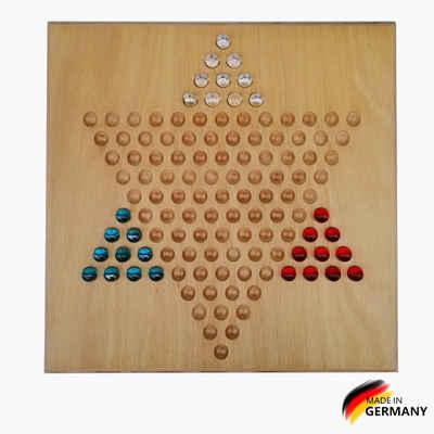 Madera Spielzeuge Spiel, Familienspiel, Strategiespiel, Logikspiel, »Halma xxl Buchenholz«, Made in Germany