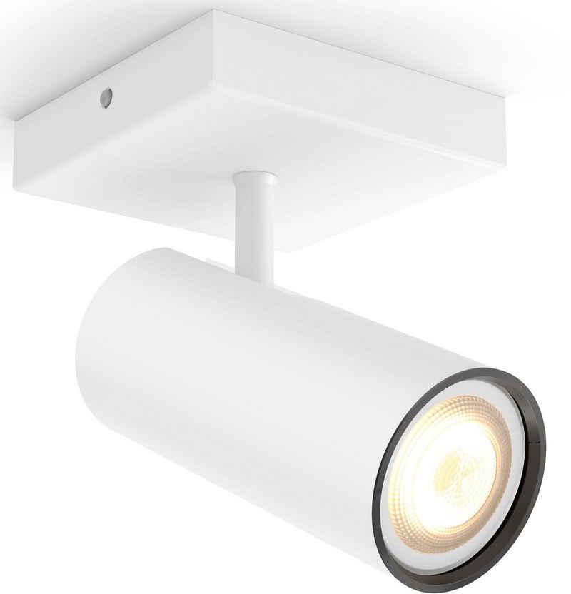 Philips Hue LED Deckenspot »Philips Hue LED Spot Buratto 1flg.«, Kompatibel mit dem Hue App System, steuerbar über App oder dem Hue Dimmschalter, 4 vorprogrammierte Lichtrezepte, Lichtfarbe 2200-6500 Kelvin, Erweiterungsset ohne Dimmschalter