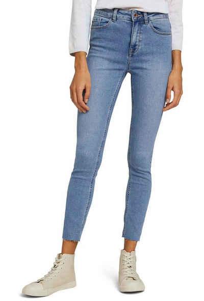 TOM TAILOR mine to five Skinny-fit-Jeans mit heller Waschung und geschnittener Saumkante