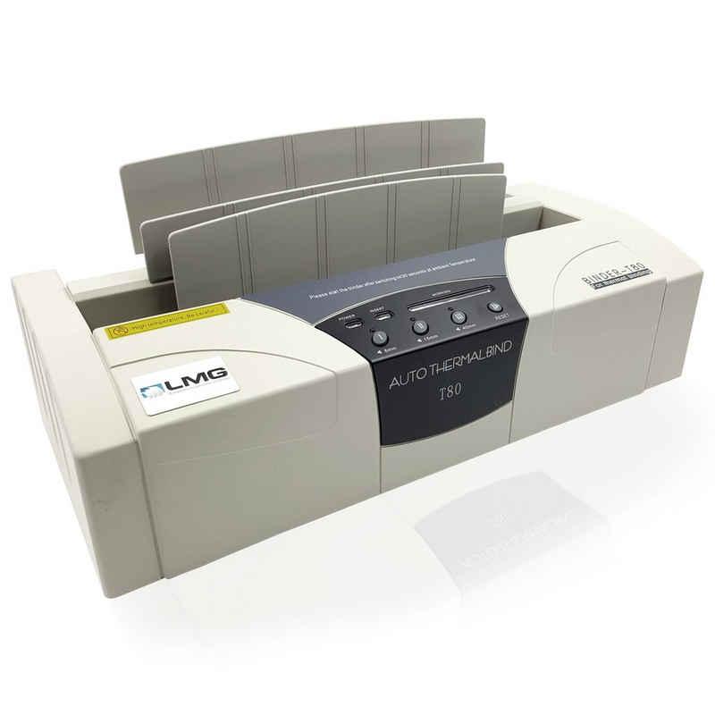 LMG Germany Thermobindegerät »Premium Thermobinder T80, bis 400 Blatt, DIN A4, Profi Bindegerät für Thermobindemappen, LED-Anzeige, Vibrationsfunktion, für hohe Produktivität, Beste Ergebnisse«
