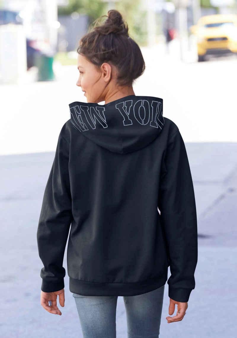 Arizona Kapuzensweatshirt in weiter Form mit Kapuzendruck