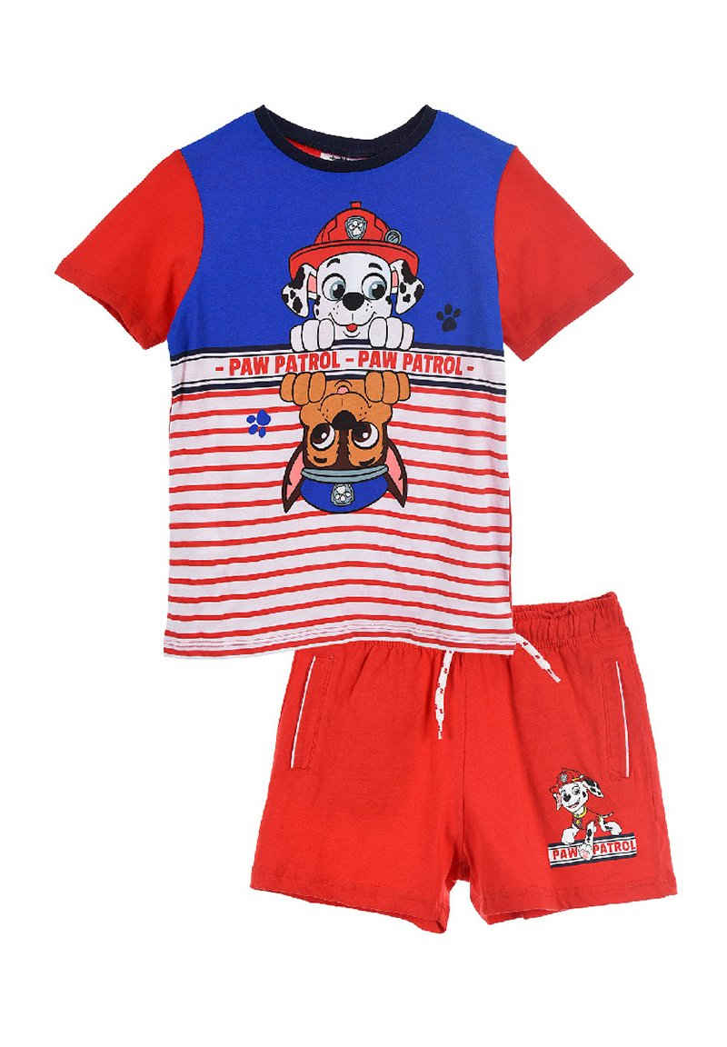 PAW PATROL T-Shirt & Shorts »Marshall & Chase Bekleidungs-Set« Shorty