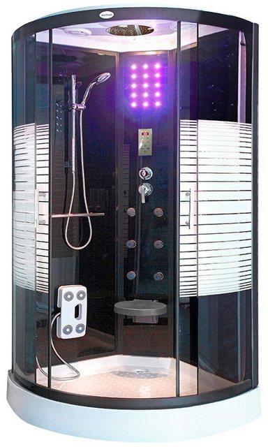 Duschen und Zubehör - HOME DELUXE Komplettdusche »Black Pearl«, BxT 100x100 cm, Sicherheitsglas, 1 tlg., mit Tropenbrause  - Onlineshop OTTO