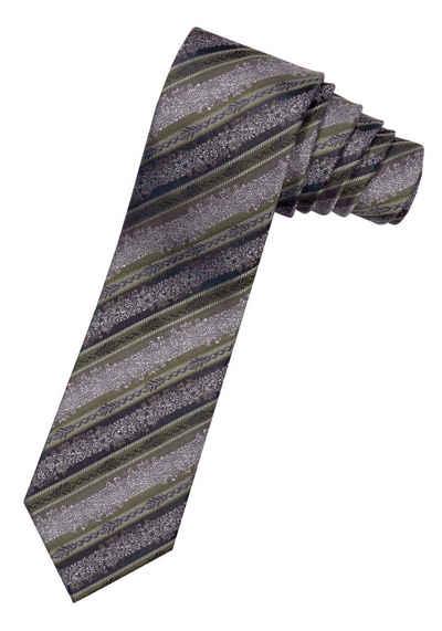 Moschen-Bayern Krawatte »Trachtenkrawatte Herren Krawatte Seidenkrawatte Herrenkrawatte 100% Seide Braun-Grün« edler Wiener Seiden-Jacquard