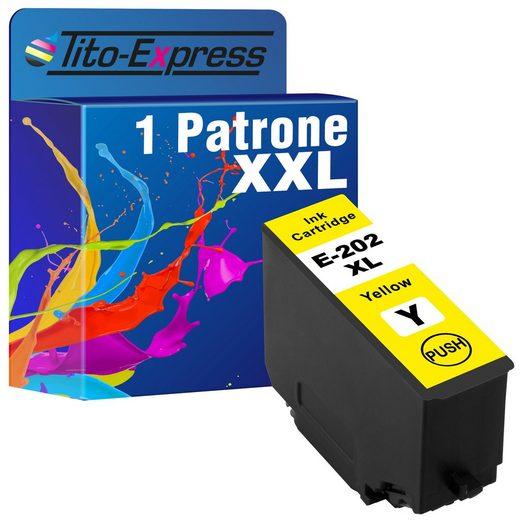 Tito-Express PlatinumSerie »ersetzt Epson 202XL 202 XL Yellow (C13T02H44010)« Tintenpatrone