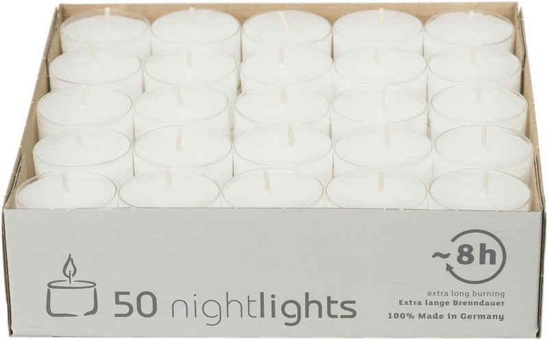 Wenzel-Kerzen Teelicht »Nightlights ca. 8h Teelichter« (50-tlg)