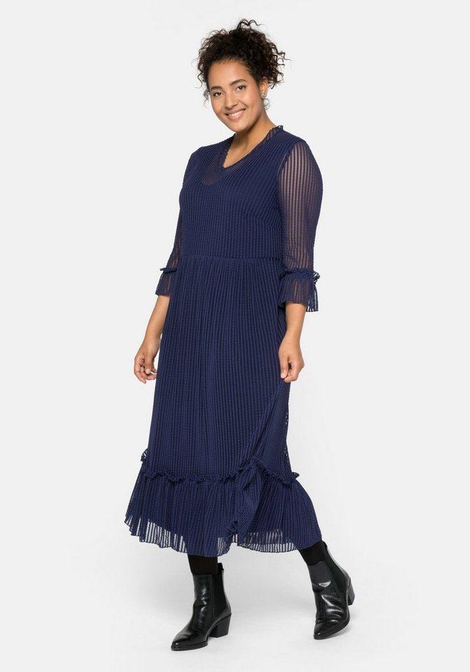 Sheego Partykleid im Streifenlook, Im Streifenlook, mit V-Ausschnitt online kaufen   OTTO